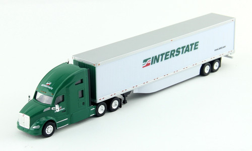 Trucks N Stuff HO 400649 Kenworth T680 Tractor with 53' Dry Van Trailer, Interstate