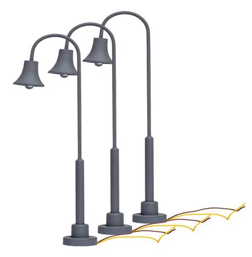 Lionel HO 2056110 Lighted Gooseneck Lamps (3)