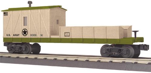 MTH RailKing O 30-79656 Crane Tender Car, U.S. Army #91