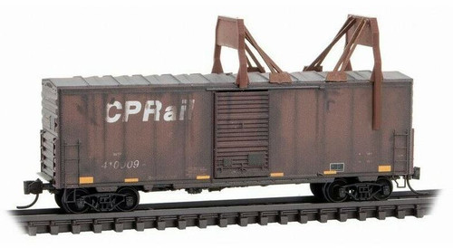 Micro-Trains N 02444460 40' Standard Box Car with Single Door, Short Ladders, and No Roofwalk, CP Rail #410009