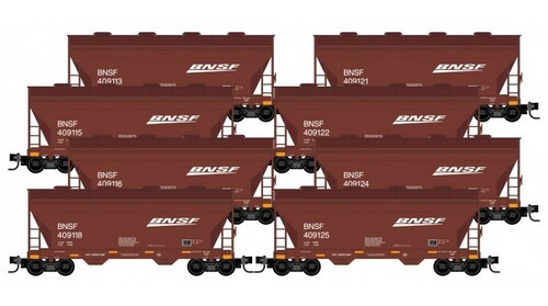 Micro-Trains N 99300819 2-Bay Covered Hopper, Burlington Northern Santa Fe (8-Car Runner Pack)