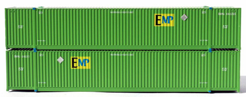 Jacksonville Terminal Company N 537003 53' High Cube 8-55-8 Containers with Magnetic System, EMP (2)