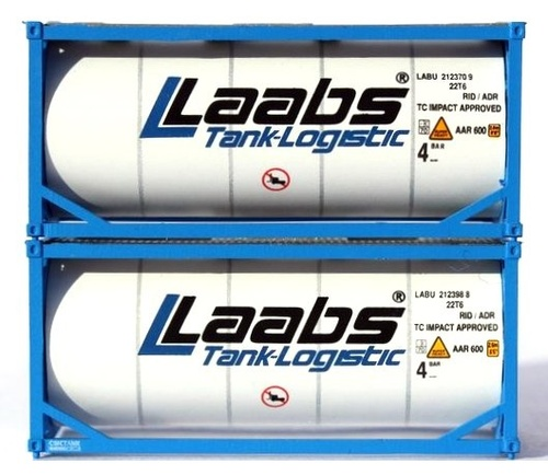 Jacksonville Terminal Company N 205236 20' Standard Tank Containers, Laabs (2)