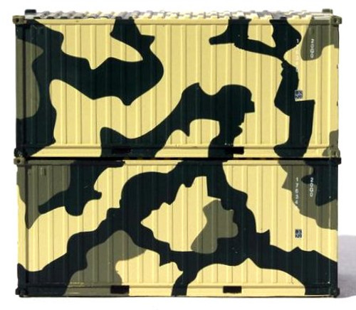 Jacksonville Terminal Company N 205387 20' Standard Height Containers with Magnetic System, US Army (2)