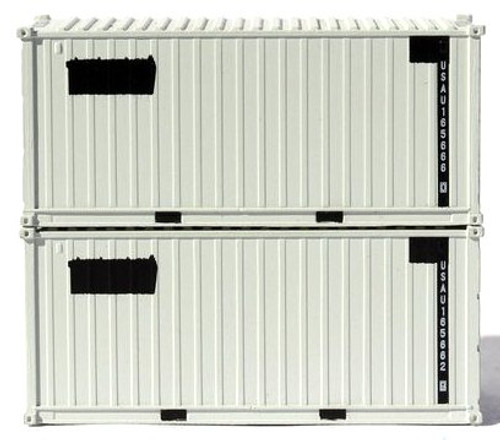 Jacksonville Terminal Company N 205454 20' Standard Height Containers with Magnetic System, USAU (2)