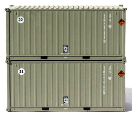 Jacksonville Terminal Company N 205449 20' Standard Height Containers with Magnetic System, USMU (2)