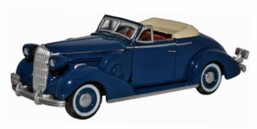 Oxford Diecast HO 87BS36005 1936 Buick Special Convertible Coupe, Musketeer Blue