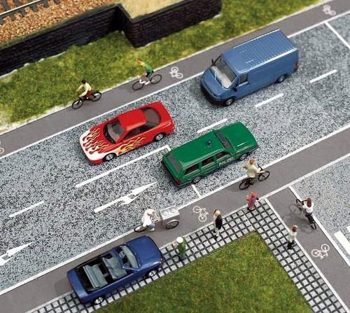 Walthers SceneMaster HO 949-1256 Self-Adhesive Roadway, Bike Lane