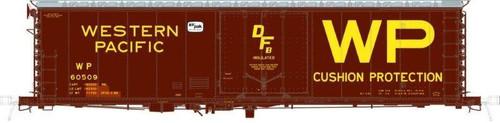 Moloco HO 51008-60514 50' RBL Offset Door Box Car, Western Pacific #60514