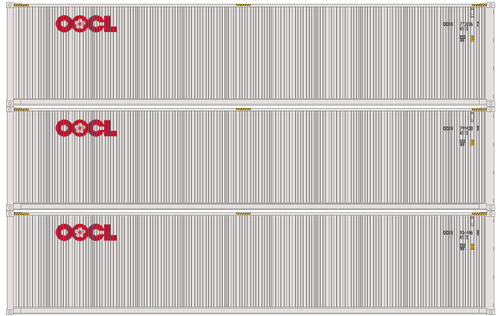 Athearn N 17640 40' Low-Cube Containers, OOCL (3)