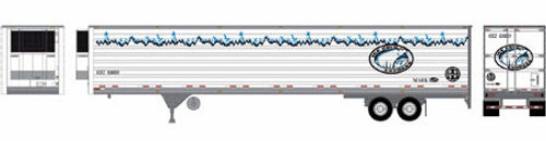 Athearn HO 17971 53' Utility Reefer Trailer, ICEZ/BNSF #530001