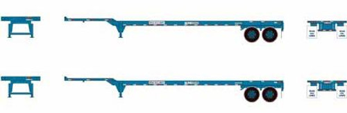 Athearn HO 26614 45' Container Chassis, Wan Hai (2)