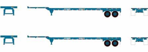 Athearn HO 26615 45' Container Chassis, Trans Pacific (2)