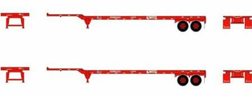 Athearn HO 26632 45' Container Chassis, K-Line (2)