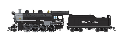 Broadway Limited Imports HO 6346 2-8-0 Consolidation with Smoke, Denver and Rio Grande Western #1159