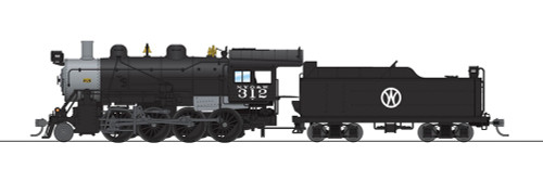 Broadway Limited Imports HO 6348 2-8-0 Consolidation with Smoke, New York Ontario and Western #312