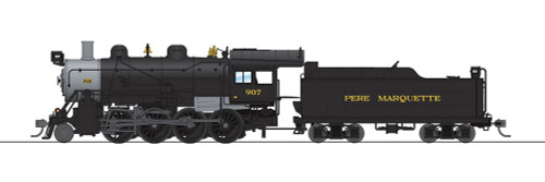 Broadway Limited Imports HO 6350 2-8-0 Consolidation with Smoke, Pere Marquette #907