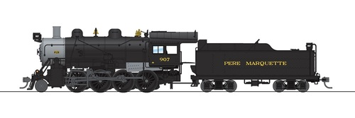 Broadway Limited Imports HO 6351 2-8-0 Consolidation with Smoke, Pere Marquette #918