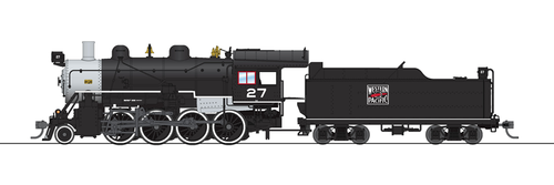 Broadway Limited Imports HO 6355 2-8-0 Consolidation with Smoke, Western Pacific #27