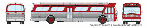 Rapido HO 703026 New Look Bus, Denver Tramways #8105