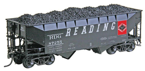 Kadee HO 7523 50-Ton AAR Standard 2-Bay Open Hopper Car, Reading #87255