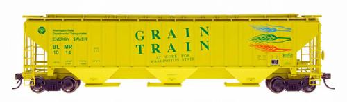 Intermountain HO 45330-10 4750 Cubic Foot 3-Bay Hopper, Grain Train #1004