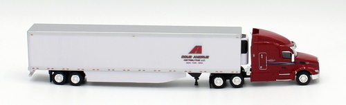 Trucks N Stuff HO 400656 Peterbilt 579 Sleeper Cab Tractor with 53' Reefer Van Trailer, DougAndrus