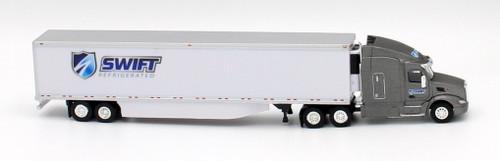 Trucks N Stuff HO 400657 Peterbilt 579 Sleeper Cab Tractor with 53' Reefer Van Trailer, Swift