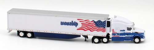 Trucks N Stuff HO 400665 Peterbilt 579 Sleeper Cab Tractor with 53' Reefer Van Trailer, Wanship
