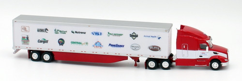 Trucks N Stuff HO 400668 Peterbilt 579 Sleeper Cab Tractor with 53' Dry Van Trailer, Cerry Family Feed