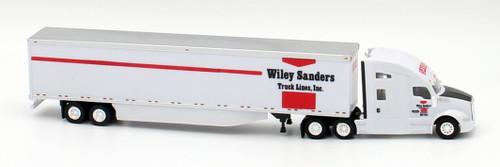Trucks N Stuff HO 400669 Kenworth T680 Sleeper Cab Tractor with 53' Dry Van Trailer, Wiley Sanders