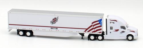 Trucks N Stuff HO 400670 Kenworth T680 Sleeper Cab Tractor with 53' Dry Van Trailer, Heartland Express