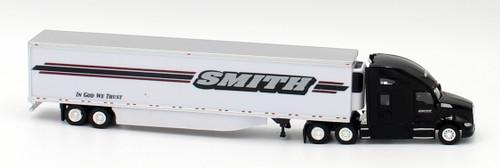Trucks N Stuff HO 400671 Kenworth T680 Sleeper Cab Tractor with 53' Reefer Van Trailer, Smith