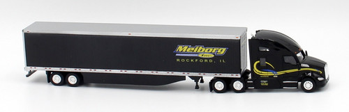 Trucks N Stuff HO 400674 Kenworth T680 Sleeper Cab Tractor with 53' Dry Van Trailer, Meiborg Inc.