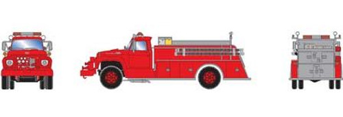 Athearn HO 4637 Ford F-850 Fire Truck, Red