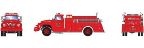 Athearn HO 92031 Ford F-850 Fire Truck, Orchardville, IL