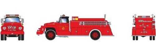 Athearn HO 92032 Ford F-850 Fire Truck, Chicago