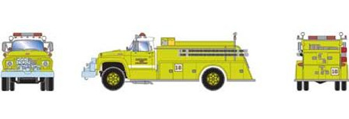 Athearn HO 92035 Ford F-850 Fire Truck, Detroit