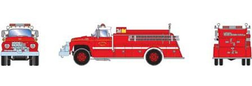 Athearn HO 92036 Ford F-850 Fire Truck, San Francisco