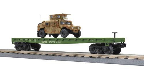 MTH RailKing O 30-76835 Flat Car with One Humvee Vehicle, U.S. Army #8225