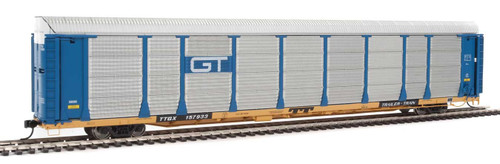 Walthers Proto HO 920-101337 89' Bi-Level Enclosed Auto Rack, Grand Trunk Western/TTGX #88130/160139