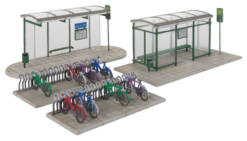 Walthers Cornerstone HO 933-3552 Modern Bus Shelter Kit