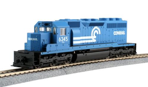 Kato HO 376324-LS EMD SD40 Diesel Locomotive, Conrail #6345