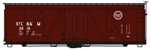 Accurail HO 1181 36' Fowler Wood Box Car, St Louis Brownsville and Mexico #2016