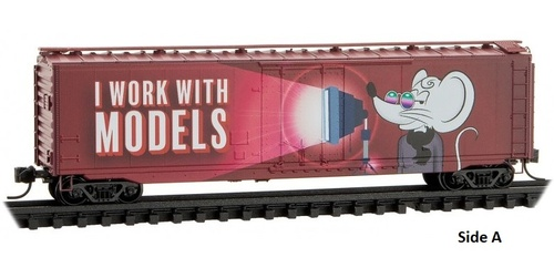 Micro-Trains N 03200540 50' Standard Box Car with Plug Door, Micro-Mouse 2021 Valentine's Day