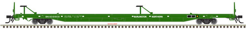 Atlas HO 20005242 89' Flat Car, Burlington Northern #635602