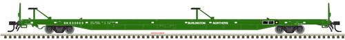 Atlas HO 20005243 89' Flat Car, Burlington Northern #635605