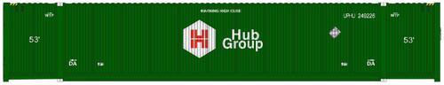 Atlas HO 20005956 53' CIMC Container Set #5, Hub Group (3)