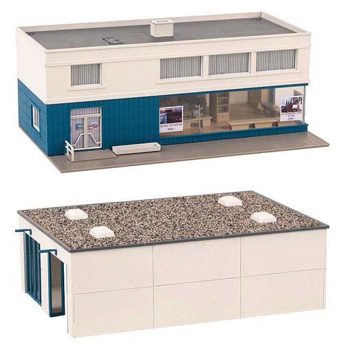 Faller HO 130120 Bus Depot with Office Kit
