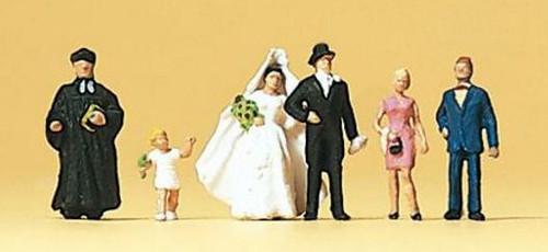 Preiser N 79057 Protestant Wedding Group